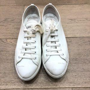 Miu Miu white patent sneakers size 37.5 worn